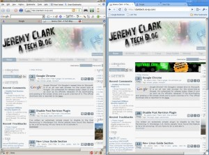 Comparison shot of Firefox and Chrome